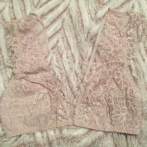 e30c5a66515 Victoria s Secret Intimates   Sleepwear - NWT DISCONTINUED VS floral lace  plunge bralette XS